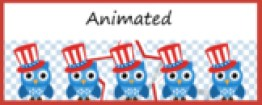 Animated Google Classroom Headers (Patriotic Owls) for Dis