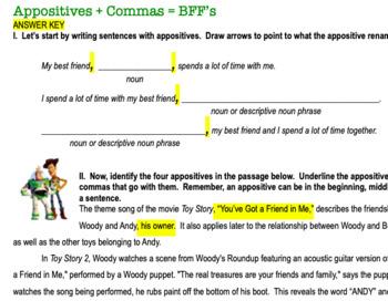 Appositive Phrases Worksheet By Miss Liz