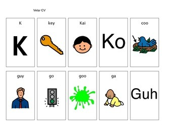 Apraxia Cv Word Pictures By Lucky Duck Speech Therapy