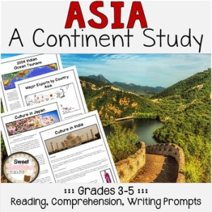 Asia Continent Study Unit by Sweet Southern Teaching   TpT Asia Continent Study Unit