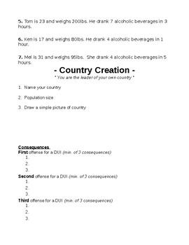 B A C Blood Alcohol Concentration Worksheet