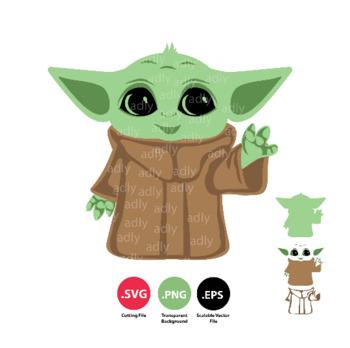 Download Baby Yoda SVG file, Mandalorian, Jedi SVG cutting cricut ...