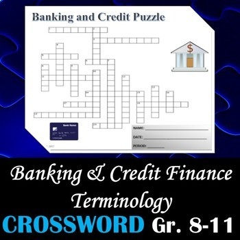 Banking Amp Credit Finance Terminology Crossword Puzzle