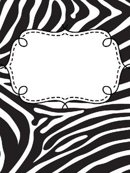 Binder Covers Animal Print Editable By Teresa Tretbar