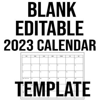 Blank Editable 2019 Calendar Template Google Slides