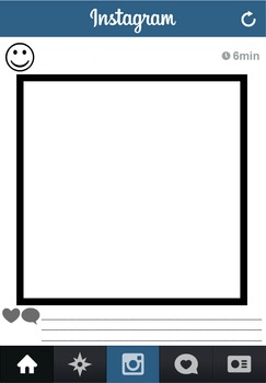 Blank Instagram Template Worksheet By Leijsa Chiasson