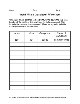 Bonding With A Classmate Worksheet By Ninth Grade