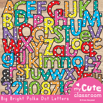 bulletin board letters big bright polka dot letters