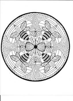 Bumble Bee Mandala Coloring Page By Drawing Dragonflies TpT