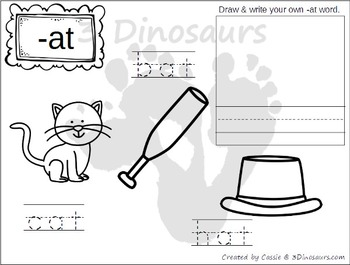 Cvc Word Family Coloring Pages By 3 Dinosaurs