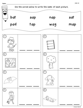 Cvc Worksheets To Identify Read And Write By Teacher S