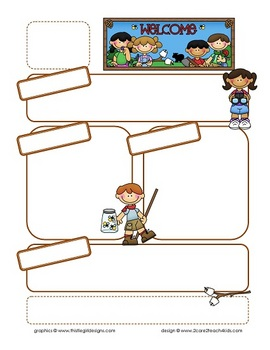 Camping Kids Newsletter Template With Blank Headings