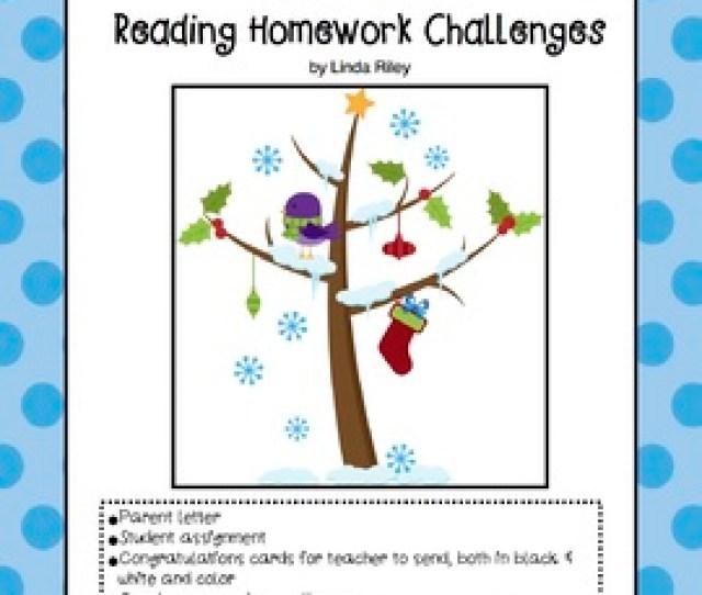School Break Holiday Reading Homework Challenges Christmas And Winter Breaks
