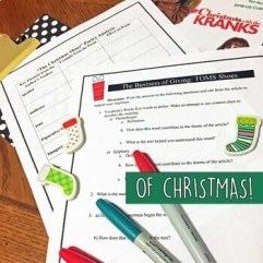 Christmas Holiday Activities, English Lessons for Teens, BUNDLE