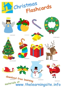Christmas Flashcards By The Learning Site Teachers Pay