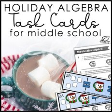 Christmas Math Holiday Algebra