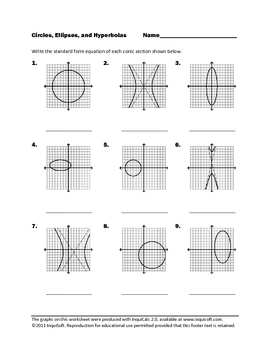 Circles Ellipses And Hyperbolas By Inquisoft