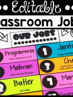 Classroom Jobs Career-Themed (Editable)