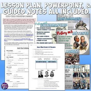 Cold War Policies Complete Lesson Plan By Students Of