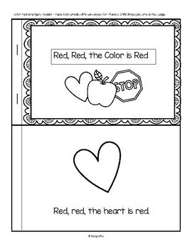 Color Red Valentines Centers Activities And Printables By