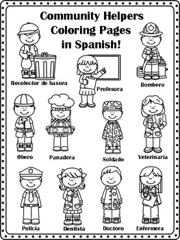 Community Helpers Coloring Page Worksheets Teaching Resources Tpt