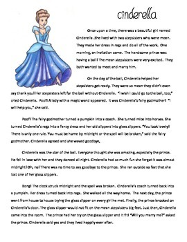 Compare & Contrast Cinderella Chinese, Egyptian: Reading