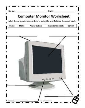 Computer Monitor Worksheet by Deans INK | Teachers Pay