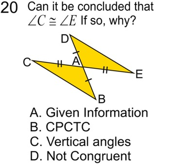 Congruent Triangles 5 Proofs Study Guide 11