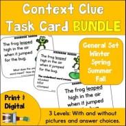 Context Clue Task Card Growing Bundle