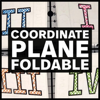 Coordinate Plane Foldable - Insert for Interactive Math Notebook