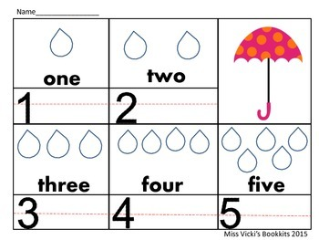 Counting Raindrops Counting And Writing Math Practice