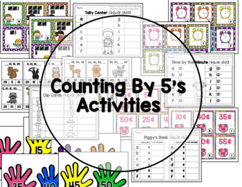 Counting By 5 S Tally Marks Minutes Nickels Skip