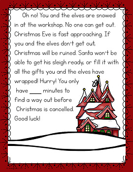 Cracking The Classroom Code 2nd Grade Christmas Math Escape Room