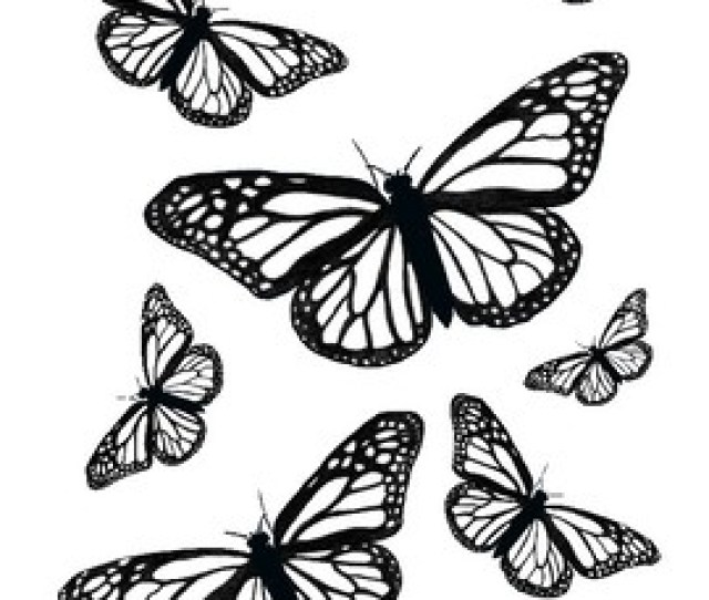Cute Printable Springtime Butterfly Coloring Pages For May Set Of