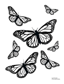 Cute Printable Springtime Butterfly Coloring Pages For May Set Of 3