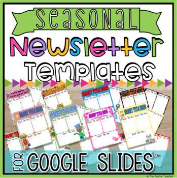 Editable Newsletter Template Google Worksheets Teaching