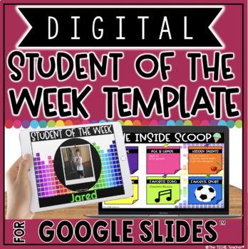 digital student of the week template in google slides