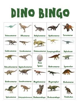 DIY PDF Dinosaur Bingo Game By Get Ready For Kindergarten