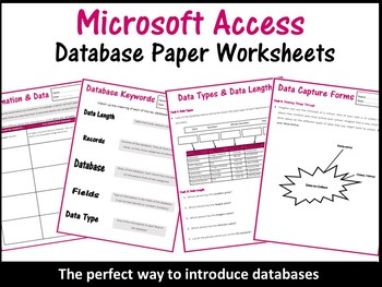 Databases Worksheets Microsoft Access