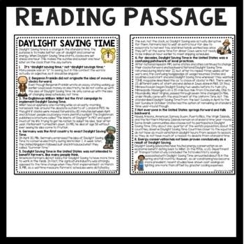 Daylight Saving Time History Reading Comprehension