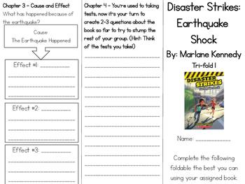 Disaster Strikes Earthquake Shock Comprehension Tri Fold