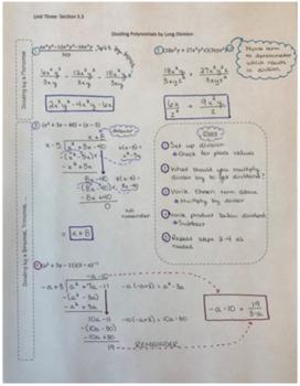 Dividing Polynomials Using Long Division Notes By Tarahb