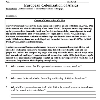 Colonization To Reconstruction Worksheet Answers