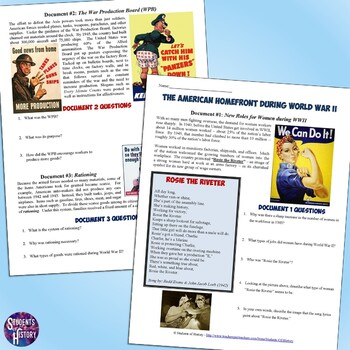 Document Worksheet On The American Homefront During World