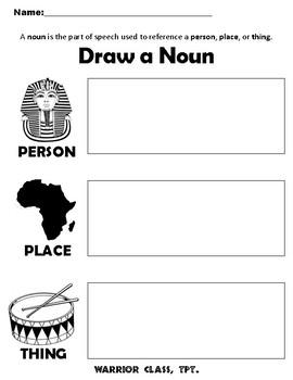 Draw A Noun Worksheet By Warrior Class