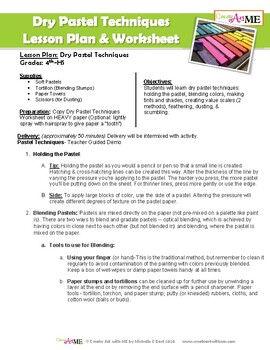 Dry Pastel Techniques Worksheet By Create Art With Me