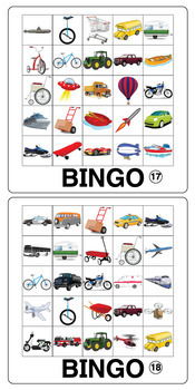 Esl Games Transportation Bingo By Donald S English