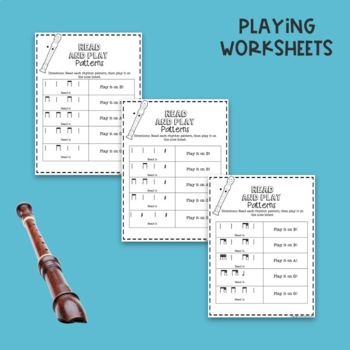 No Prep Bag Recorder Worksheets By Aileen Miracle