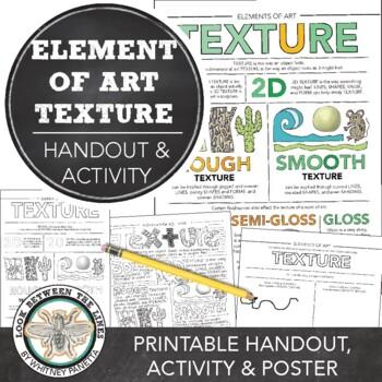 Texture Elements Of Art Printable Handout Visual Art