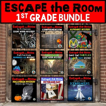 Escape Room BUNDLE for FIRST GRADE